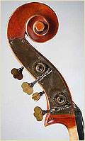 German upright bass scroll
