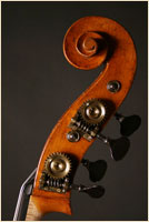 Jaquet-Gand upright bass scroll