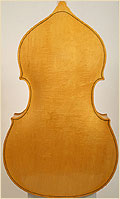 Kay upright double bass back