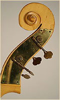 Kay upright double bass scroll