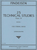 Findeisen, 25 Technical Studies for Bass, Volume 1