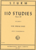 Sturm, 110 Studies,Volume 2, String Bass (Zimmerman)