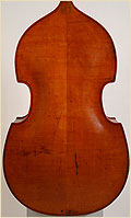 German double bass carved back