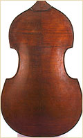 Austrian upright bass carved back