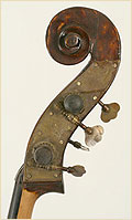 Austrian upright bass scroll