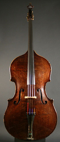 French upright bass scroll