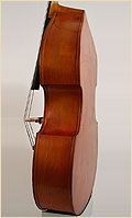 German upright bass side