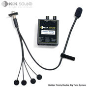 K&K Golden Trinity: Golden Bullet  Microphone + Double Big Twin Pickup