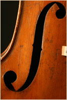 Jaquet-Gand upright bass f-hole