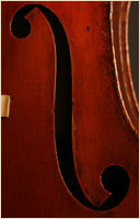 Leon Mortin upright bass f-hole